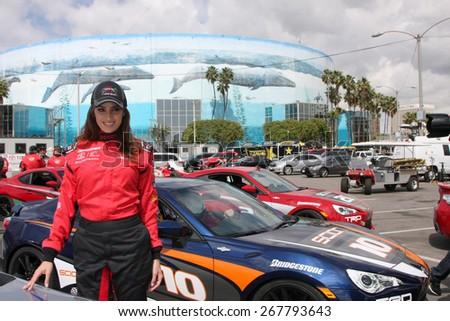 LOS ANGELES - FEB 7:  Donna Feldman at the Toyota Grand Prix of Long Beach Pro/Celebrity Race Press Day at the Grand Prix Compound on FEB 7, 2015 in Long Beach, CA - stock photo