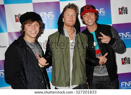 LOS ANGELES - FEB 8 - Emblem3 arrives at the 16th Annual Friends N Family Pre Grammy Party on February 8, 2013 in Los Angeles, CA              - stock photo