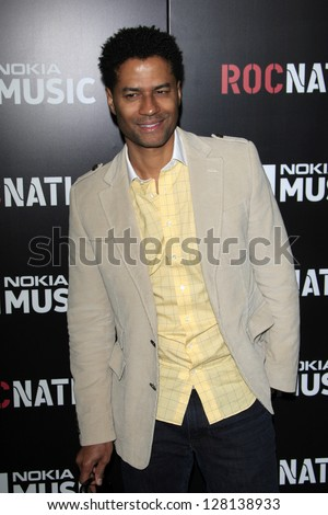 LOS ANGELES - FEB 9:  Eric Benet arrives at the ROC NATION Annual Pre-Grammy Brunch at the Soho House on February 9, 2013 in West Hollywood, CA - stock photo