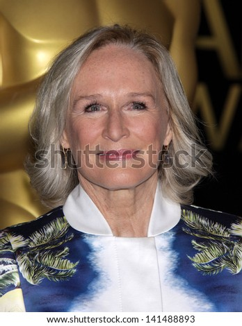 LOS ANGELES - FEB 6:  GLENN CLOSE arrives to the 2012 Academy Awards Nominee Luncheon  on Feb 6, 2012 in Beverly Hills, CA - stock photo