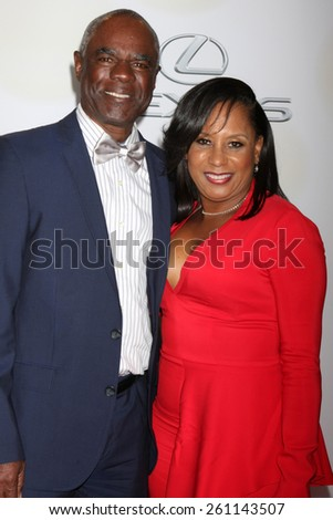 LOS ANGELES - FEB 6:  Glynn Turman, Jo-An Turman at the 46th NAACP Image Awards Arrivals at a Pasadena Convention Center on February 6, 2015 in Pasadena, CA - stock photo