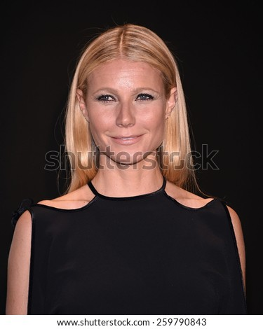 LOS ANGELES - FEB 20:  Gwyneth Paltrow arrives to the Tom Ford Autumn/Winter 2015 Womenswear Collection Presentation  on February 20, 2015 in Hollywood, CA                 - stock photo