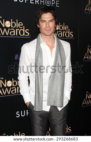 LOS ANGELES - FEB 27:  Ian Somerhalder at the Noble Awards at the Beverly Hilton Hotel on February 27, 2015 in Beverly Hills, CA - stock photo