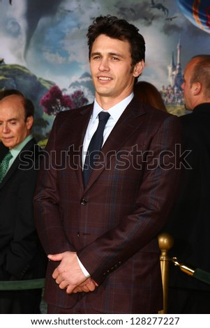 LOS ANGELES - FEB 13:  James Franco at the 'Oz THe Great and Powerful!'  World Premiere at the El Capitan Theater on February 13, 2013 in Los Angeles, CA - stock photo