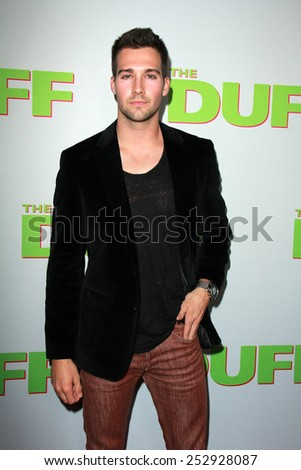 "LOS ANGELES - FEB 12:  James Maslow at the ""The Duff"" Los Angeles Premiere at a TCL Chinese 6 Theaters on February 12, 2015 in Los Angeles, CA - stock photo"