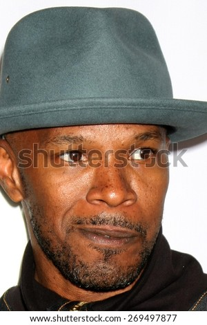"""LOS ANGELES - FEB 13:  Jamie Foxx at the """"Brotherly Love"""" LA Premiere at the Silver Screen Theater at the Pacific Design Center on April 13, 2015 in West Hollywood, CA - stock photo"""