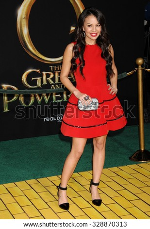 LOS ANGELES - FEB 13 - Janel Parrish arrives at the Oz The Great and Powerful World Premiere on February 13, 2013 in Los Angeles, CA              - stock photo