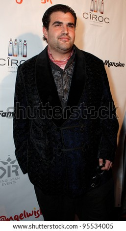 "LOS ANGELES - FEB. 12: Jason Davis attends the ""Fame At The Mansion"" 2012 Grammy Aterparty hosted by Sean ""Diddy"" Combs held at the Playboy Mansion. Los Angeles, Feb 12, 2012 - stock photo"