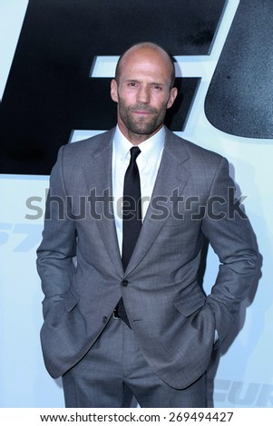 "LOS ANGELES - FEB 1:  Jason Statham at the ""Avengers; Age Of Ultron"" Los Angeles Premiere at the TCL Chinese Theater on April 1, 2015 in Los Angeles, CA - stock photo"