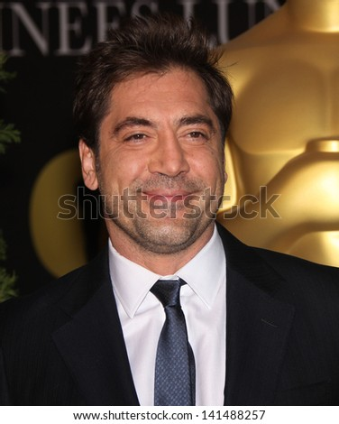 LOS ANGELES - FEB 7:  JAVIER BARDEM arrives to the 83rd Academy Awards Nominees Luncheon  on Feb 7, 2011 in Beverly Hills, CA - stock photo