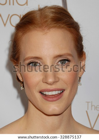 LOS ANGELES - FEB 17 - Jessica Chastain arrives at the 2013 Writers Guild Awards Los Angeles Ceremony on February 17, 2013 in Los Angeles, CA              - stock photo