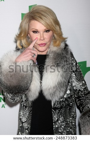 LOS ANGELES - FEB 26:  Joan Rivers at the Global Green USA Pre-Oscar Event at Avalon Hollywood on February 26, 2014 in Los Angeles, CA - stock photo