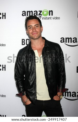 "LOS ANGELES - FEB 3:  John Ierardi at the ""Bosch"" Amazon Red Carpet Premiere Screening at a ArcLight Hollywood Theaters on February 3, 2015 in Los Angeles, CA - stock photo"