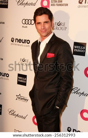 LOS ANGELES - FEB 22:  John Stamos at the Elton John Oscar Party 2015 at the City Of West Hollywood Park on February 22, 2015 in West Hollywood, CA - stock photo