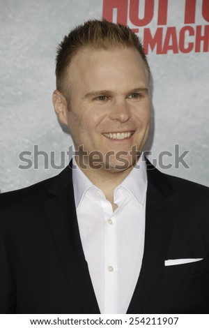 LOS ANGELES - FEB 18: Josh Heald at the 'Hot Tub Time Machine 2' premiere on February 18, 2014 in Los Angeles, California - stock photo