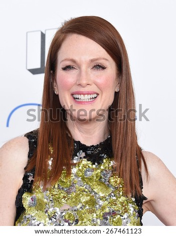 LOS ANGELES - FEB 21:  Julianne Moore arrives to the 2015 Film Independent Spirit Awards  on February 21, 2015 in Santa Monica, CA                 - stock photo