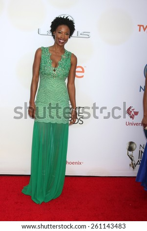 LOS ANGELES - FEB 6:  Karimah Westbrook at the 46th NAACP Image Awards Arrivals at a Pasadena Convention Center on February 6, 2015 in Pasadena, CA - stock photo