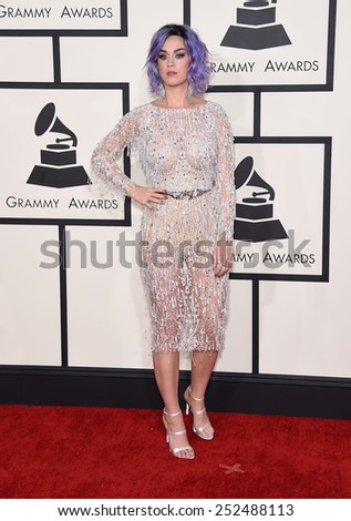 LOS ANGELES - FEB 08:  Katy Perry arrives to the Grammy Awards 2015  on February 8, 2015 in Los Angeles, CA                 - stock photo