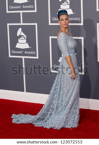 LOS ANGELES - FEB 12:  KATY PERRY arriving to Grammy Awards 2012  on February 12, 2012 in Los Angeles, CA - stock photo