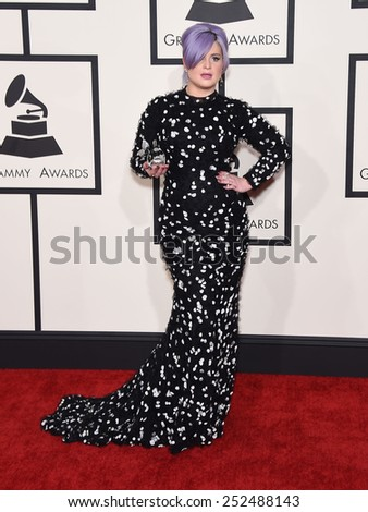 LOS ANGELES - FEB 08:  Kelly Osbourne arrives to the Grammy Awards 2015  on February 8, 2015 in Los Angeles, CA                 - stock photo