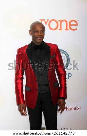 LOS ANGELES - FEB 6:  Kem at the 46th NAACP Image Awards Arrivals at a Pasadena Convention Center on February 6, 2015 in Pasadena, CA - stock photo