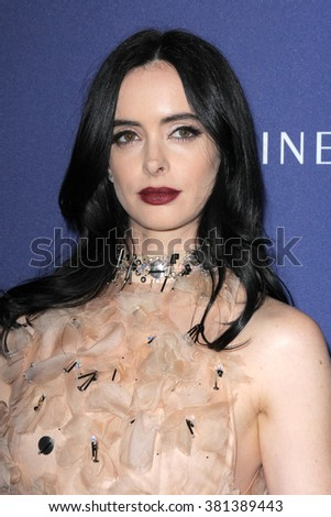 LOS ANGELES - FEB 23:  Krysten Ritter at the 18th Costume Designers Guild Awards at the Beverly Hilton Hotel on February 23, 2016 in Beverly Hills, CA - stock photo