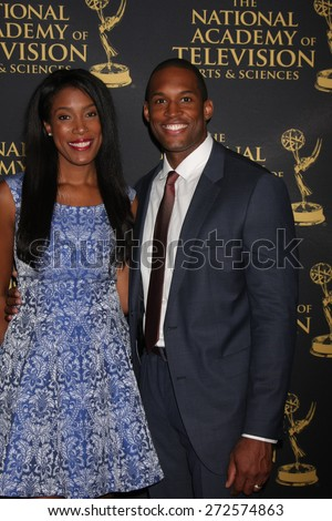 LOS ANGELES - FEB 24:  Lawrence Saint-Victor at the Daytime Emmy Creative Arts Awards 2015 at the Universal Hilton Hotel on April 24, 2015 in Los Angeles, CA - stock photo