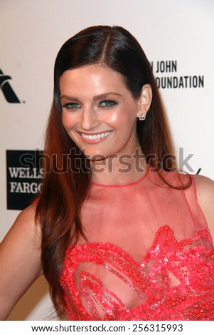 LOS ANGELES - FEB 22:  Lydia Hearst at the Elton John Oscar Party 2015 at the City Of West Hollywood Park on February 22, 2015 in West Hollywood, CA - stock photo