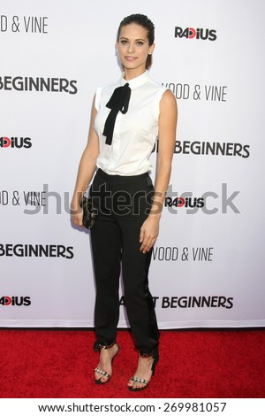 "LOS ANGELES - FEB 15:  Lyndsy Fonseca at the ""Adult Beginners"" Los Angeles Premiere at the ArcLight Hollywood Theaters on April 15, 2015 in Los Angeles, CA - stock photo"