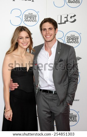 LOS ANGELES - FEB 21:  Melissa Benoist, Blake Jenner at the 30th Film Independent Spirit Awards at a tent on the beach on February 21, 2015 in Santa Monica, CA - stock photo