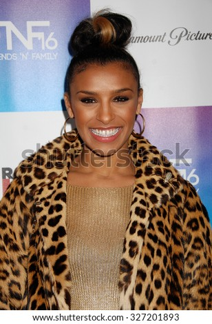 LOS ANGELES - FEB 8 - Melody Thornton arrives at the 16th Annual Friends N Family Pre Grammy Party on February 8, 2013 in Los Angeles, CA              - stock photo