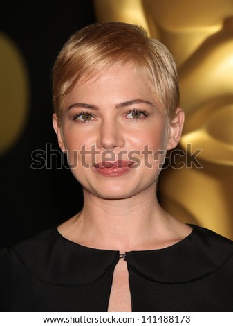 LOS ANGELES - FEB 7:  MICHELLE WILLIAMS arrives to the 83rd Academy Awards Nominees Luncheon  on Feb 7, 2011 in Beverly Hills, CA - stock photo