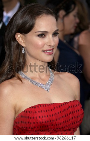 LOS ANGELES - FEB 26:  Natalie Portman arrives at the 84th Academy Awards at the Hollywood & Highland Center on February 26, 2012 in Los Angeles, CA. - stock photo