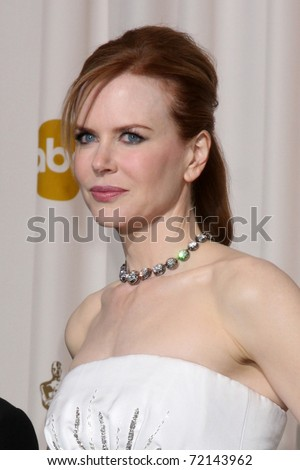 LOS ANGELES -  FEB 27: Nicole Kidman arrives  in the Press Room at the 83rd Academy Awards at Kodak Theater, Hollywood & Highland on February 27, 2011 in Los Angeles, CA - stock photo