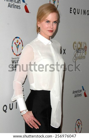 "LOS ANGELES - FEB 21:  Nicole Kidman at the 3rd ""Gold Meets Golden"" at the Equinox on February 21, 2015 in West Los Angeles, CA - stock photo"