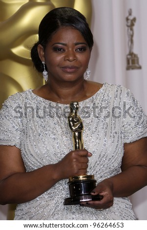 LOS ANGELES - FEB 26:  Octavia Spencer arrives at the 84th Academy Awards at the Hollywood & Highland Center on February 26, 2012 in Los Angeles, CA. - stock photo