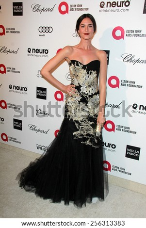 LOS ANGELES - FEB 22:  Odette Annable at the Elton John Oscar Party 2015 at the City Of West Hollywood Park on February 22, 2015 in West Hollywood, CA - stock photo