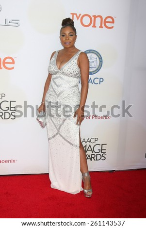 LOS ANGELES - FEB 6:  Paula Jai Parker at the 46th NAACP Image Awards Arrivals at a Pasadena Convention Center on February 6, 2015 in Pasadena, CA - stock photo