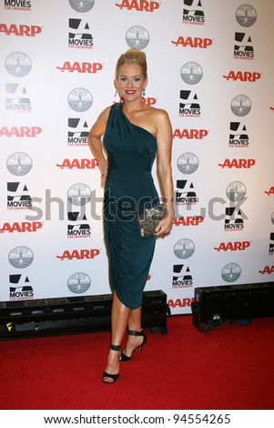 LOS ANGELES - FEB 6:  Penelope Ann Miller arrives at the AARP's 11th Annual Movies For Gownups Awards at Beverly Wilshire Hotel on February 6, 2012 in Beverly Hills, CA - stock photo