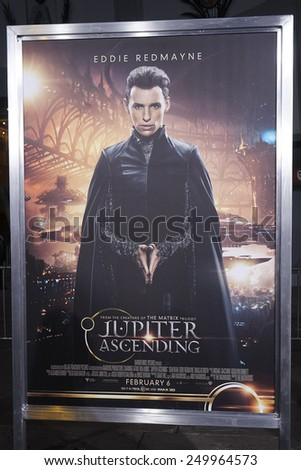 LOS ANGELES - FEB 2: Poster, Atmosphere at the 'Jupiter Ascending' Los Angeles Premiere at TCL Chinese Theater on February 2, 2015 in Hollywood, Los Angeles, California - stock photo