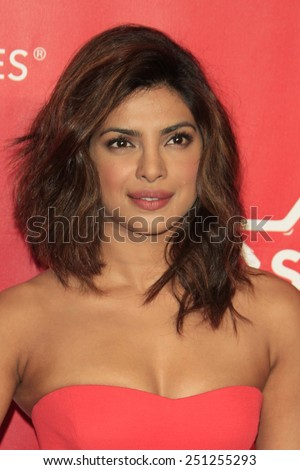 LOS ANGELES - FEB 6:  Priyanka Chopra at the MusiCares 2015 Person Of The Year Gala at a Los Angeles Convention Center on February 6, 2015 in Los Angeles, CA - stock photo