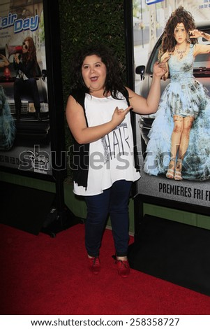 LOS ANGELES - FEB 10: Raini Rodriguez at the screening of the Disney Channel Original Movie 'Bad Hair Day' at the Frank G Wells Theater on February 10, 2015 in Burbank, CA - stock photo