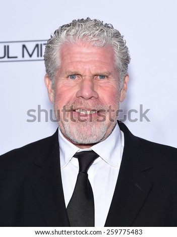 LOS ANGELES - FEB 14:  Ron Perlman arrives to the Make-Up Artists & Hair Stylists Guild Awards 2015  on February 14, 2015 in Hollywood, CA                 - stock photo