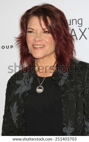 LOS ANGELES - FEB 8:  Rosanne Cash at the Universal Music Group 2015 Grammy After Party at a The Theater at Ace Hotel on February 8, 2015 in Los Angeles, CA - stock photo
