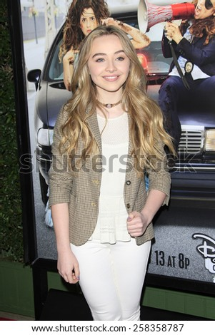 LOS ANGELES - FEB 10: Sabrina Carpenter at the screening of the Disney Channel Original Movie 'Bad Hair Day' at the Frank G Wells Theater on February 10, 2015 in Burbank, CA - stock photo