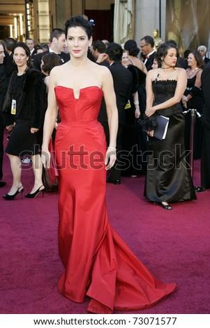 LOS ANGELES - FEB 27:  Sandra Bullock arrives at the 83rd Annual Academy Awards - Oscars at the Kodak Theater on February 27, 2011 in Los Angeles, CA. - stock photo