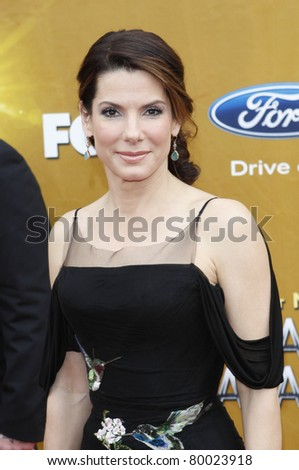 LOS ANGELES - FEB 26: Sandra Bullock arriving at the 41st NAACP Image Awards - held at the Shrine Auditorium in Los Angeles, California on February 26, 2010 - stock photo