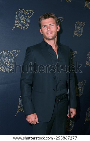 LOS ANGELES - FEB 20:  Scott Eastwood at the Publicist Guild Luncheon at a Beverly Hilton Hotel on February 20, 2015 in Beverly Hills, CA - stock photo