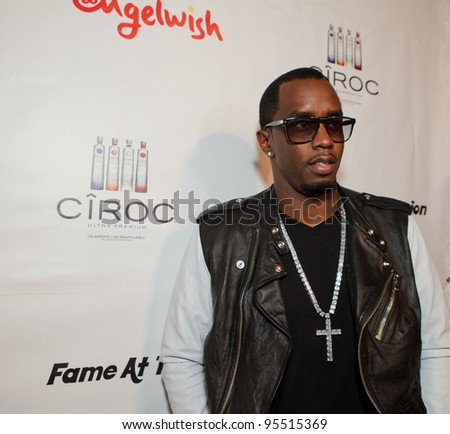 "LOS ANGELES - FEB. 12: Sean ""Diddy"" Combs attends the ""Fame At The Mansion"" 2012 Grammy Aterparty hosted by Sean ""Diddy"" Combs at the Playboy Mansion in Los Angeles on Feb. 12, 2012. - stock photo"