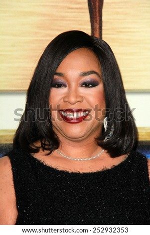 LOS ANGELES - FEB 14:  Shonda Rhimes at the 2015 Writers Guild Awards at a Century Plaza Hotel on February 14, 2015 in Century City, CA - stock photo